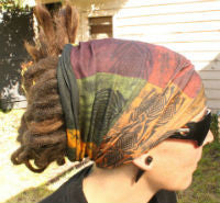 Earthy Dreadlock sock Dread protector under helmet or under a swim cap