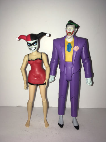 DC Collectibles Batman: The Animated Series Mad Love Joker & Harley Quinn Box Set Preowned Loose Action Figure