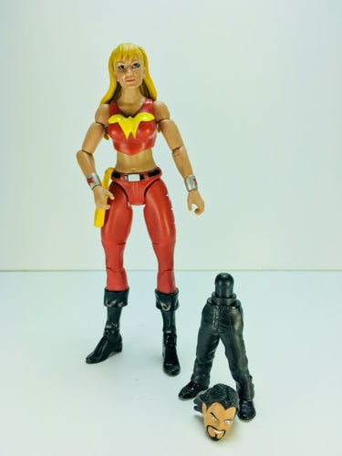 DC Comics Multiverse Wonder Girl With DR Psycho Bafs Parts Preowned Loose Action Figure