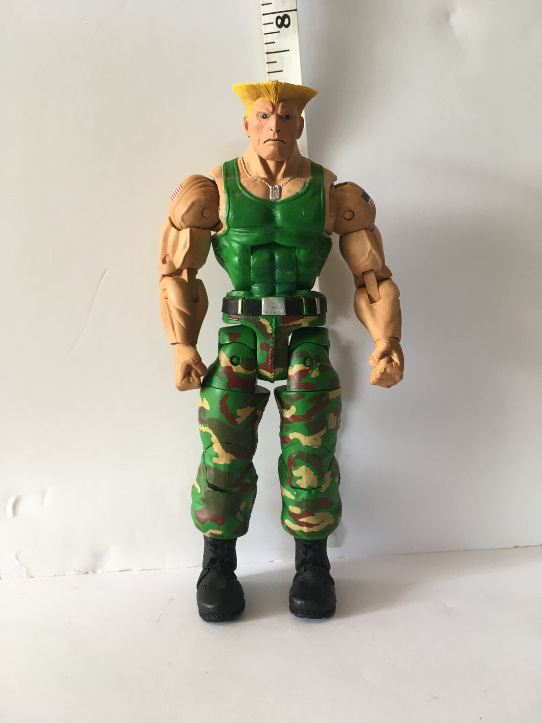 NECA  Street Fighter IV  Guile Pre Owned Loose Action Figure