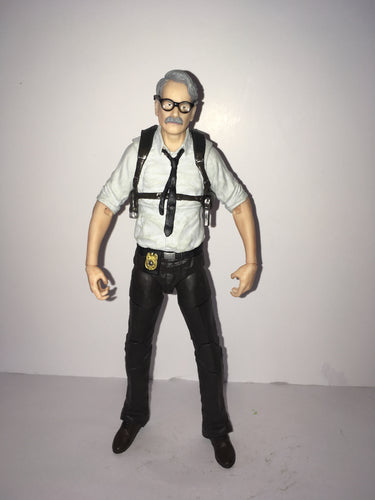 DC Arkham Knight Commissioner Gordon Preowned Loose Action Figure