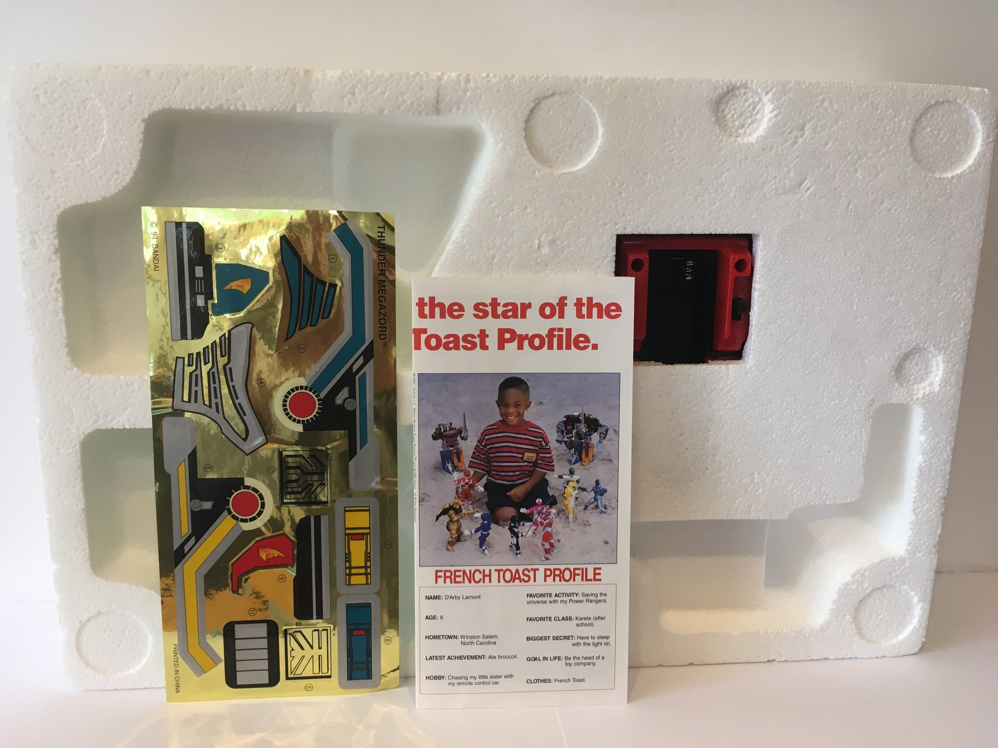 Power Rangers Special Size Thunder Megazord Pre Owned Figure