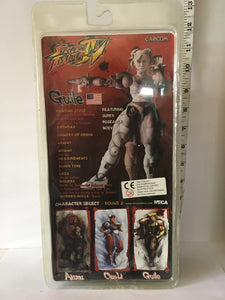 Capcom Neca 20th Anniversary Street Fighter Guile Black Variant Pre Owned Boxed Action Figure