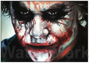 Heath Ledger Joker A4 Print By Martyn