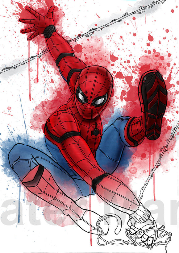 Spider-Man A4 Print By Martyn