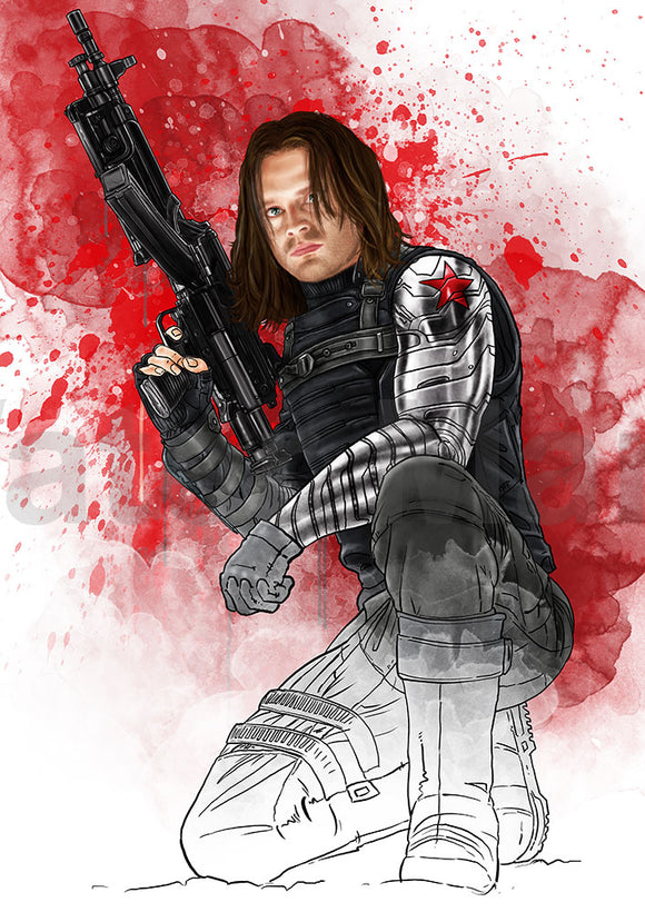 Bucky Barns A4 Print By Martyn