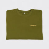 SKEWED Unisex Sweatshirt in Khaki Green