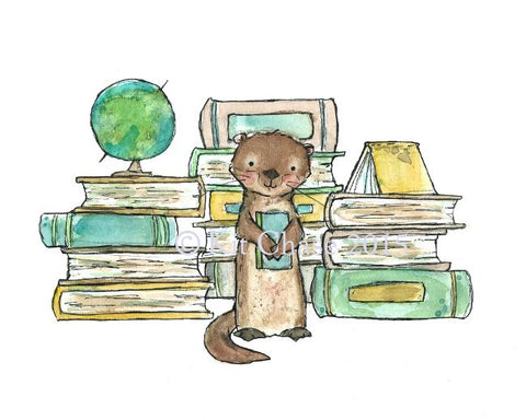 bookish otter