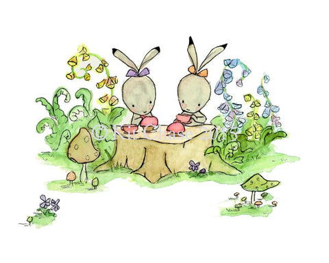 bunny tea party