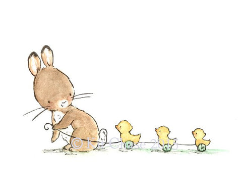 bunny and ducklings