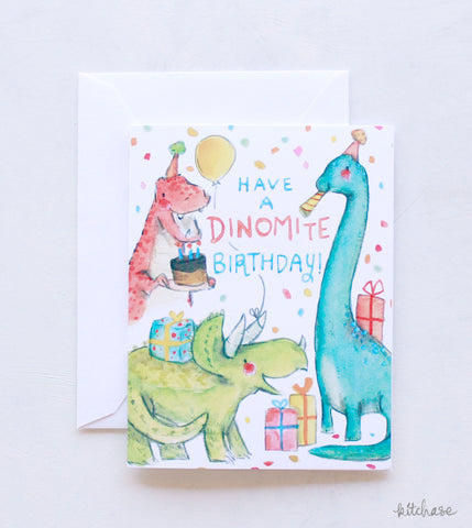 Happy Birthday Dinomite card