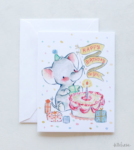 Happy Birthday Elephant card