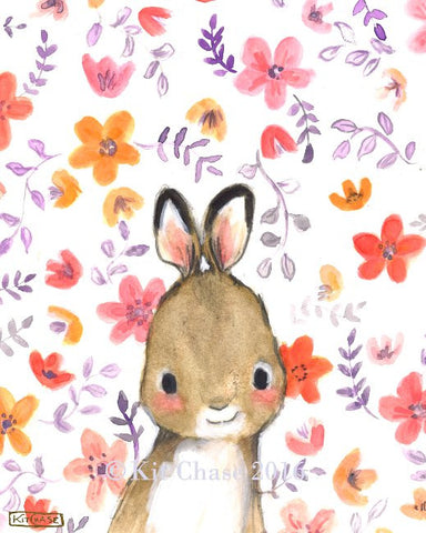 whimsy floral rabbit