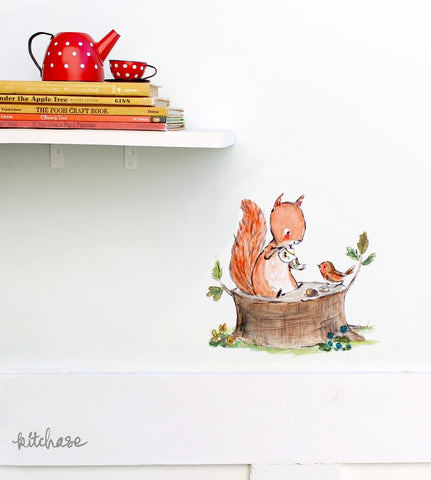 squirrel tea decal