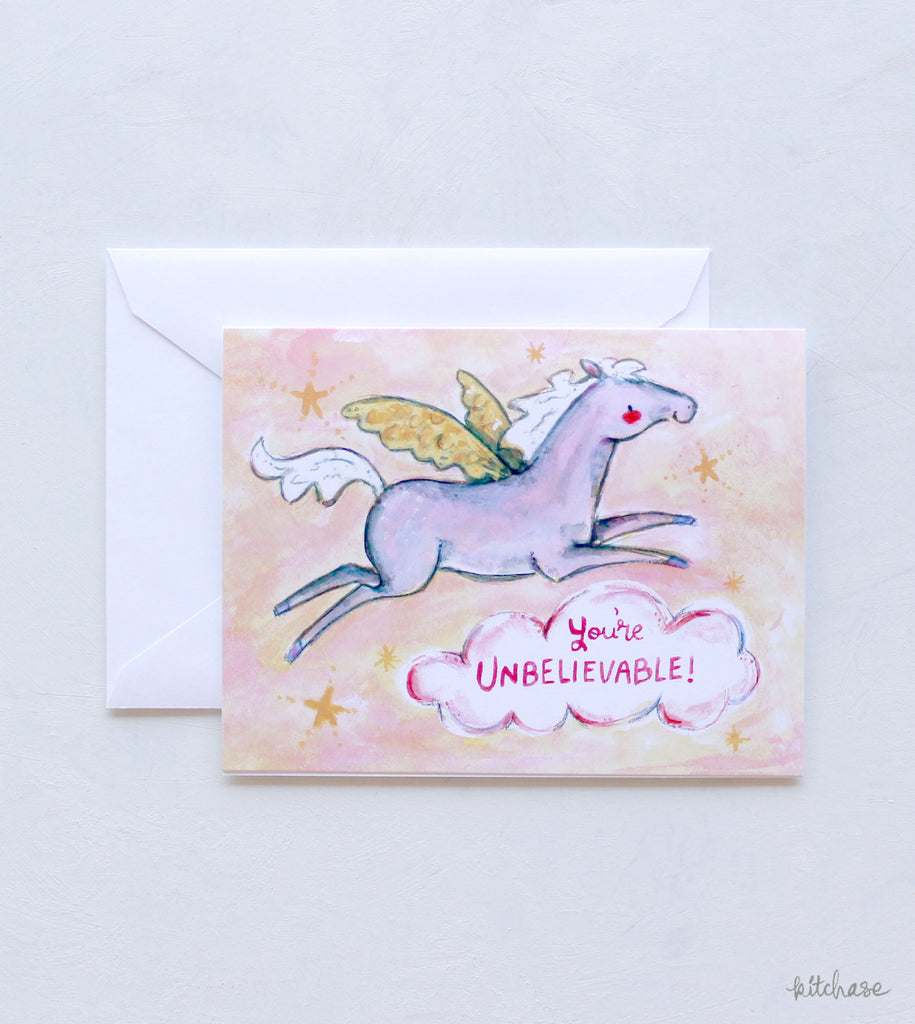 you're unbelievable greeting card