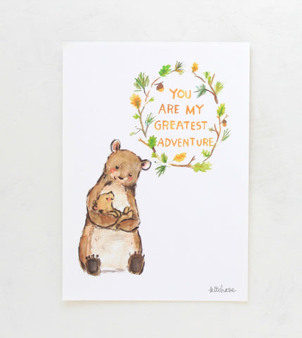 my greatest adventure bear giclee