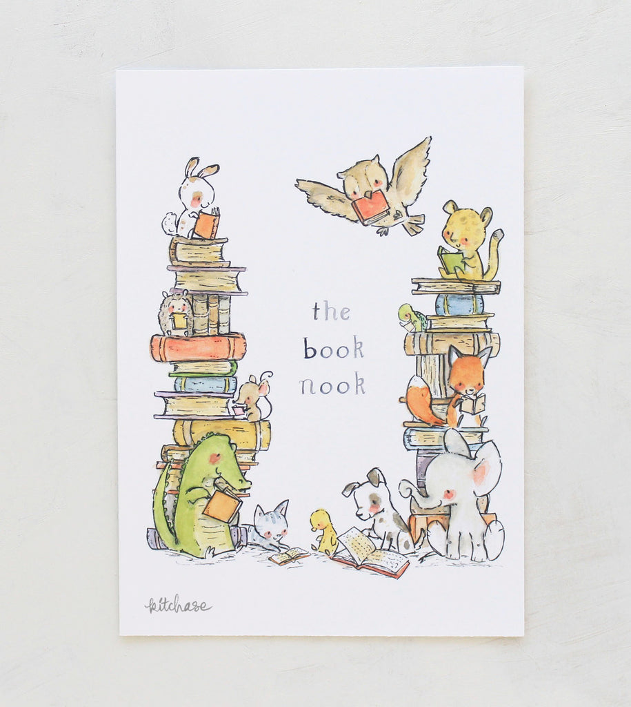 book nook customizable giclee print