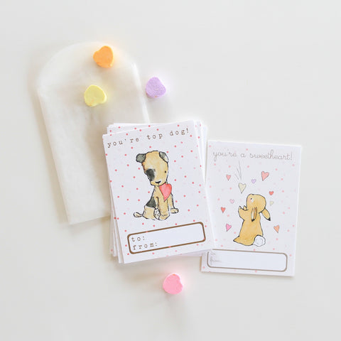 Valentine Cards - top dog & sweetheart