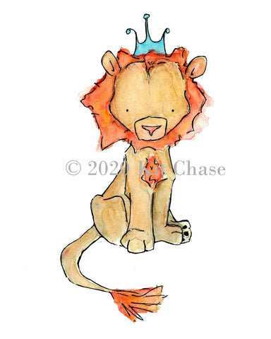 royal lion giclee
