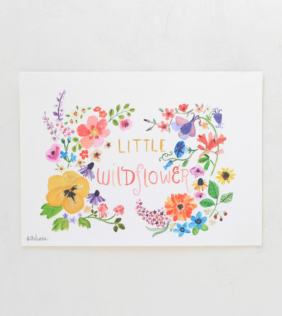 little wildflower giclee