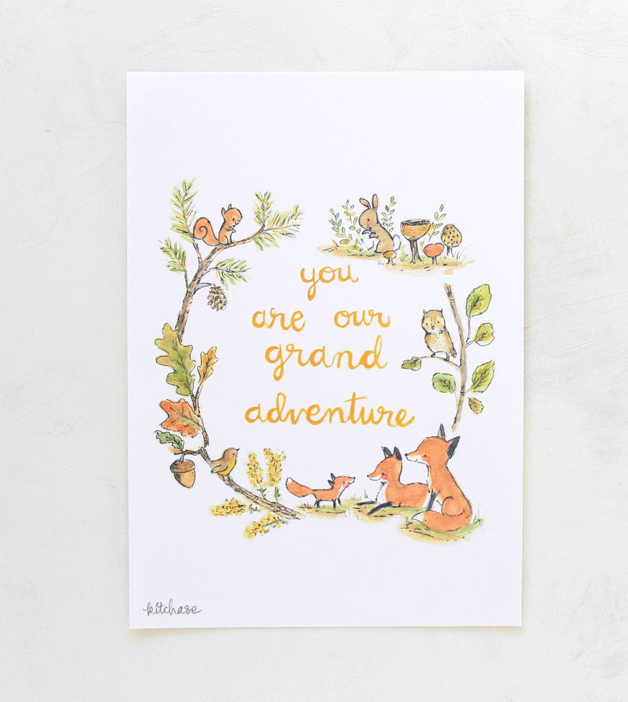 grand adventure fox giclee