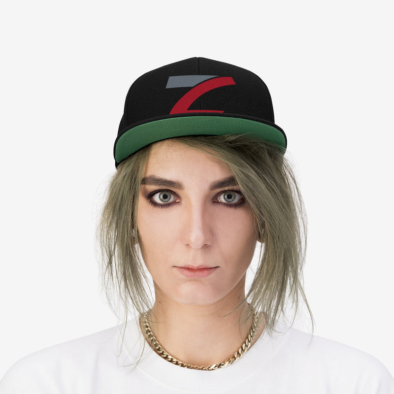 Embroidered Unisex Flat Bill Hat