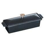 Staub Cast Iron 1.5-qt Large Rectangular Terrine, Black Matte