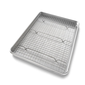 USA Pan - Baking Pan with Cooling Rack (17x12x1)