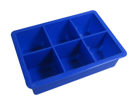 Kitchen Basics Ice Cube Tray - 6 Jumbo Holes - Blue