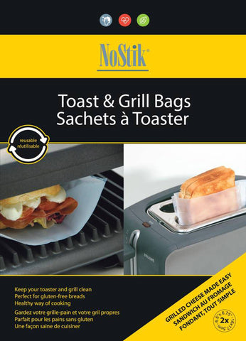 NoStik Toast and Grill Bags - Pack of 2