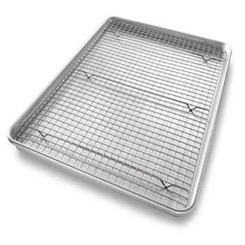 USA Pan - Large Baking Pan with Cooling Rack (20x12x1)