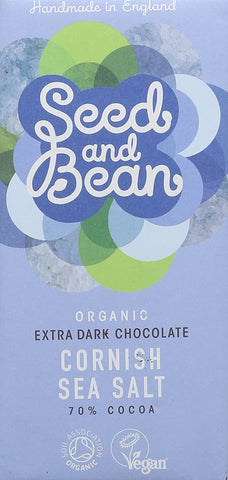 Seed and Bean - Chocolate Bar Cornish Sea Salt 70% 85g