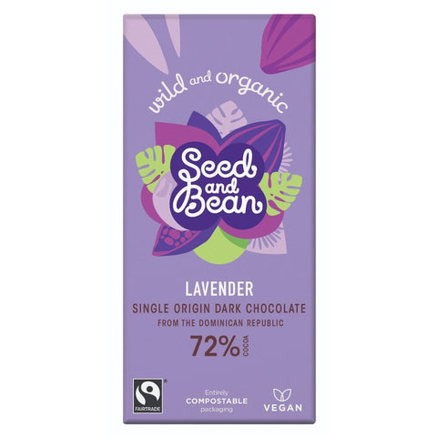 Seed and Bean - Chocolate Bar Lavender 72%  85g