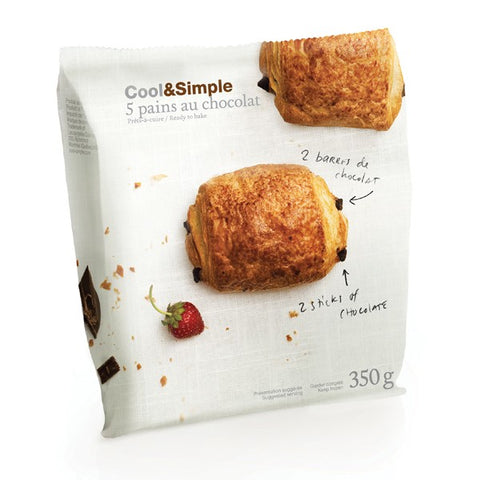 Cool & Simple Pure Butter Chocolate Croissants 5 pack