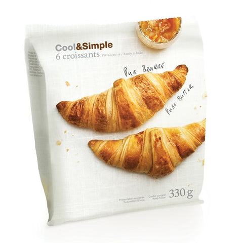 Cool & Simple Pure Butter Croissants 6 pack