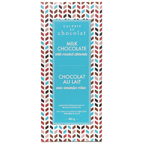 Galerie Au Chocolat Milk Chocolate with Roasted Almonds 80g
