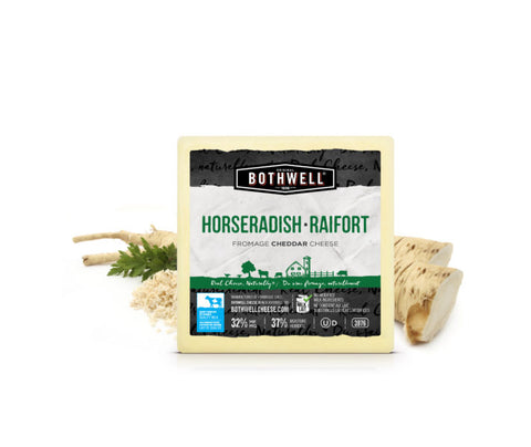 Horseradish Cheddar - Pasteurized Cow Milk - Empire Cheese, Cambellford, ON  - 150g