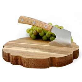 Natural Living - Cheese Board - With Chopper