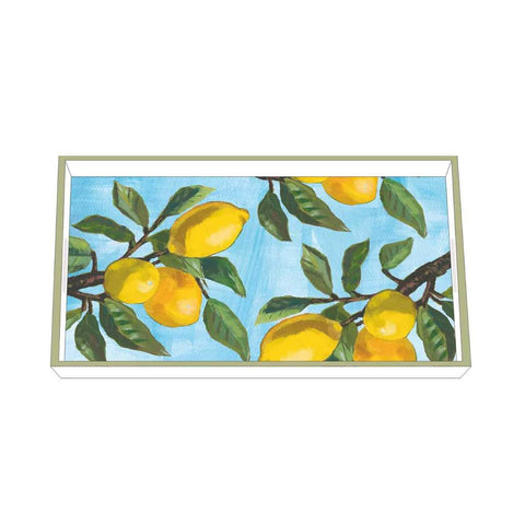 Paperproducts Design – Tray – Lemon Musee Wood - 12 1/4 x 7