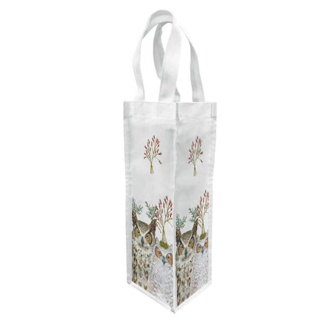 Paperproducts Design – Wine Bag – Canvas – Holiday Hoot