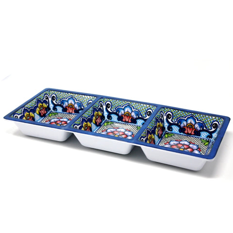 Prepara - 3 Sectional Tray – Taco - Blue