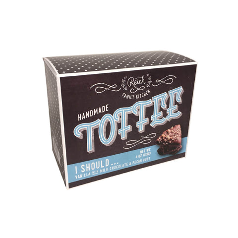 Reich Kitchens - Toffee Crunch - Vanilla with Milk Chocolate & Pecan Dust – 4oz
