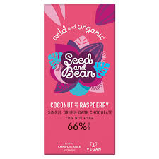 Seed and Bean - Chocolate Bar Coconut & Raspberry 66% 85g