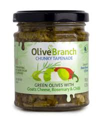 Olive Branch -Tapenade -Green Olive with Goat Cheese, Rosemary & Chilli 180gr