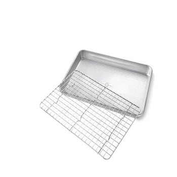 USA Pan -  Quarter Sheet Baking Pan with Cooling Rack