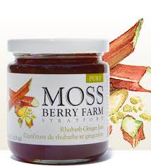 Moss Berry Farm Rhubarb Ginger Jam 250ml