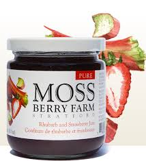 Moss Berry Farm Rhubarb and Strawberry Jam 250ml