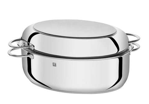 ZWILLING® Plus Series 15″ Multi-Use Oval Roaster with Rack and Lid