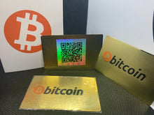 Load image into Gallery viewer, CryptoCurrency Hard Steel Wallet Address Card with Designer Drawer box Bitcoin (BTC)