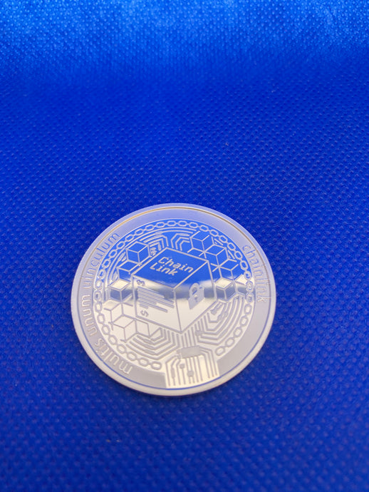 ChainLink (LINK) Collector's Coin, Commemorative Round Collector's Coin LINK Coin Art Collection